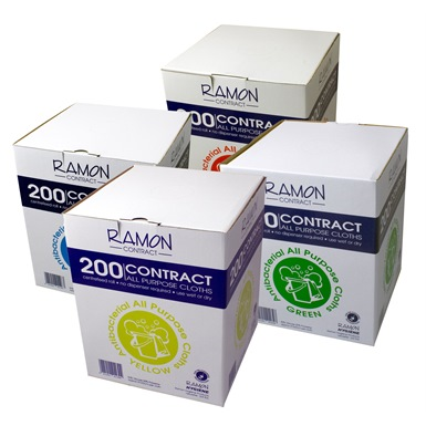200 Boxed Contract All Purpose Cloths (6 Pack)