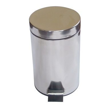 3 Litre Pedal Oporated Bin, Stanless Steel