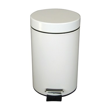 3 Litre Pedal Oporated Bin, White