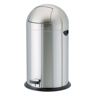 40 Litre Pedal Operated Push Bin, Stainless Steel