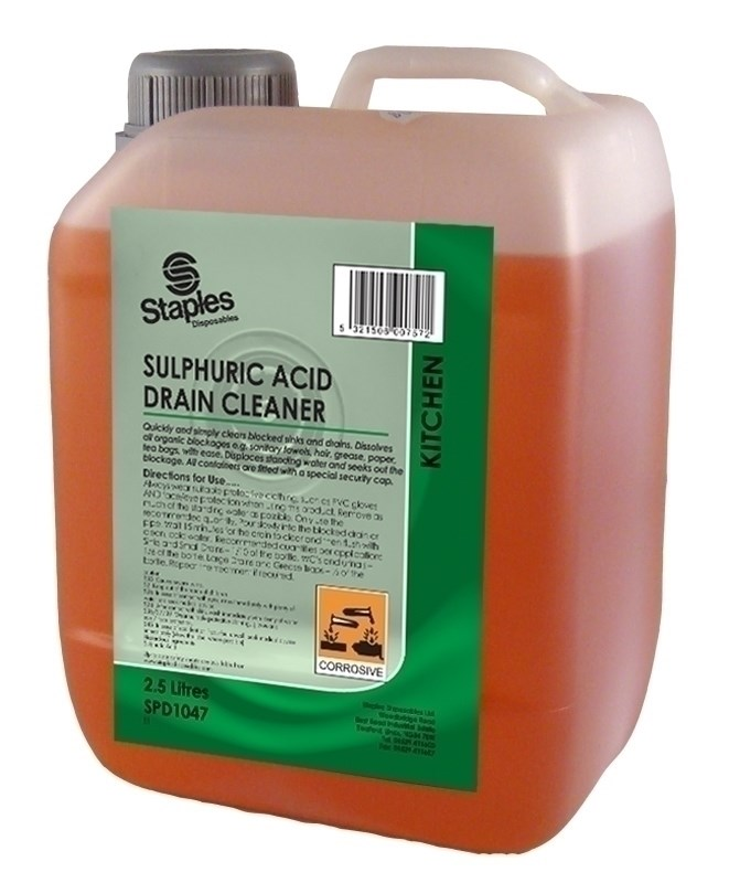 Acid Drain Cleaner 4 Cans Staples Disposables