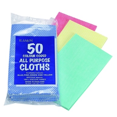 All Purpose Cloths (Pack of 50)