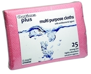Antibacterial Multi Purpose Cloths (Pack 25)