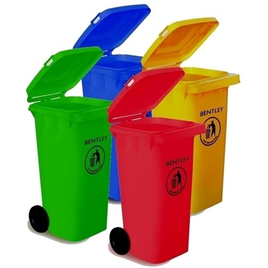Bentley Coloured Wheelie Bins (120 litres)