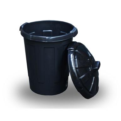 Black Dust Bin (80 Litres)