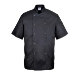Black Portwest Cumbria Chefs Jacket - C733