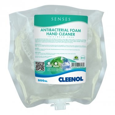 Cleenol 074123 Senses Antibacterial Foam Hand Cleaner | 3x800ml