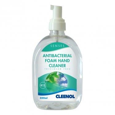 Cleenol 077184 Antibacterial Foam Hand Cleaner - 6x500ml