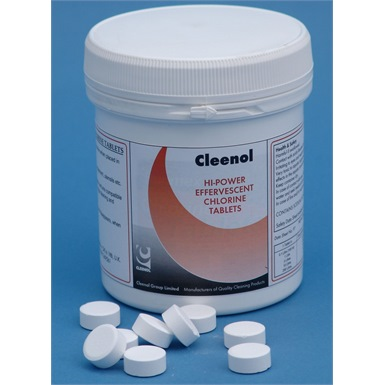 Cleenol Hi-Power Effervescent Chlorine Tablets (X200)