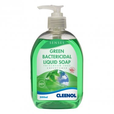 Cleenol Senses Green Bactericidal Liquid Soap | 6x500ml