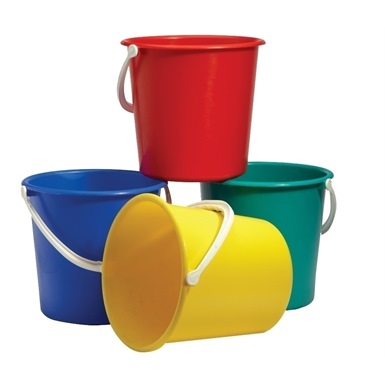 Coloured Buckets 9 Litre