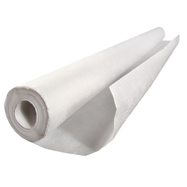 Damask White Banqueting Roll