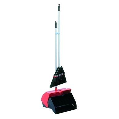 Deluxe Long Handled Dust Pan & Brush