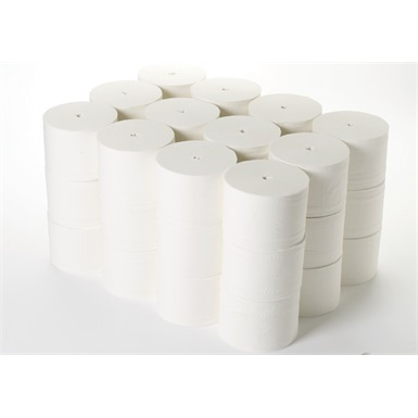 ESP 2 Ply White Coreless Toilet Roll