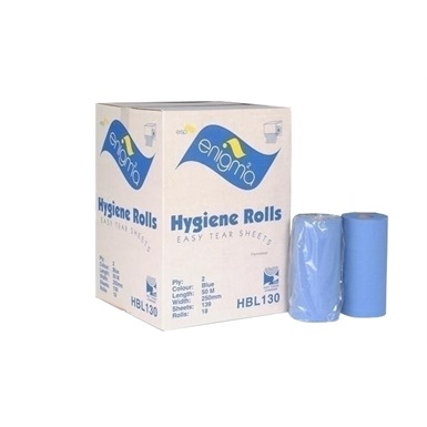"""ESP Enigma 10"""" 2 Ply Blue Couch Roll 18 Rolls"""