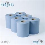 ESP Enigma 6 Blue Embossed Centre Feed Rolls - CBL375SE