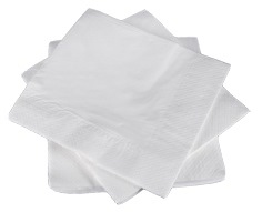Essentials White 2ply 40cm Napkins Box 2000