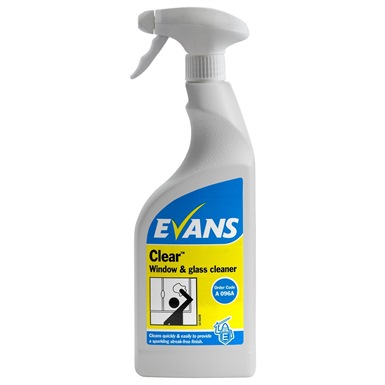 Evans Clear, Window & Glass Cleaner 750ml