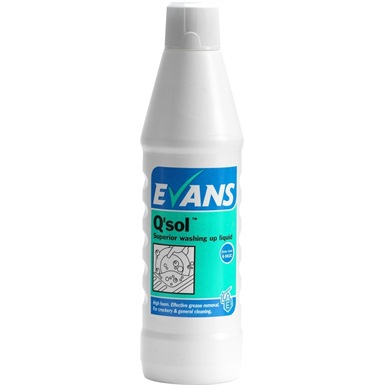Evans Q Sol Superior Washing Up Liquid 1 Litre