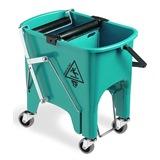 Green Foot Operated Mop Bucket, 15 litre - 6415