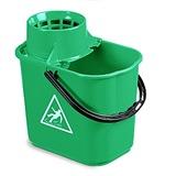 Green Plastic Mop Bucket, 12 Litre - 5040