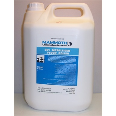 Metallized Floor Polish-25 percent solids