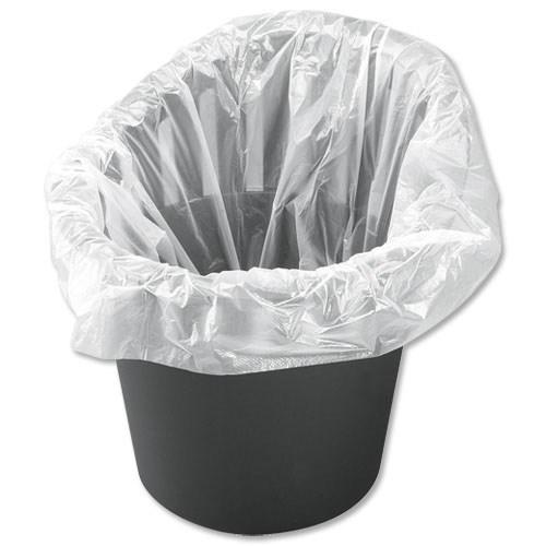 office bin liners white 1000 bags bme packaging brs082. Black Bedroom Furniture Sets. Home Design Ideas