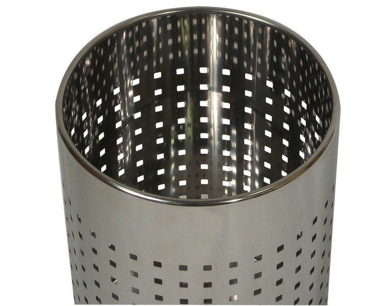 Probbax Round Waste Basket 10l Mirror Stainless Steel U