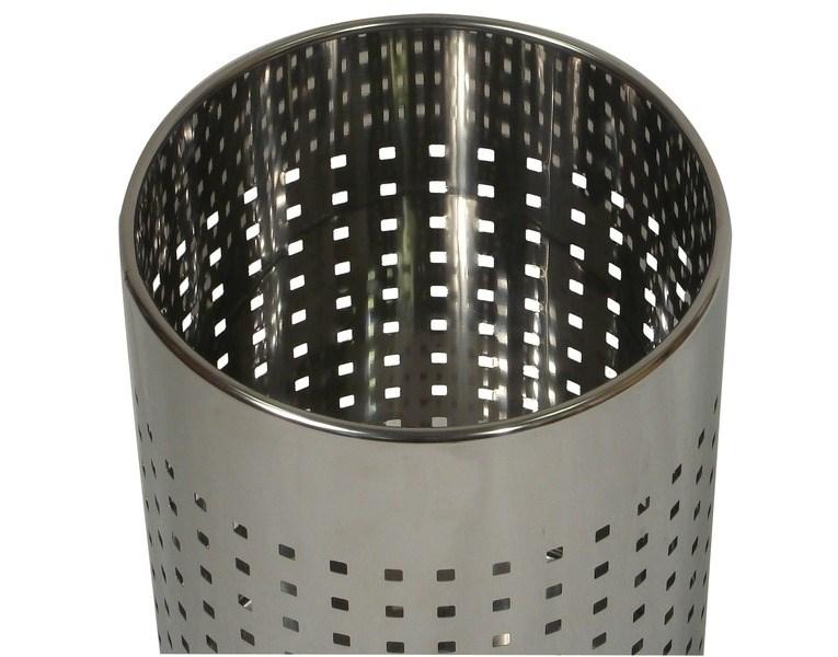 Probbax Round Waste Basket 10l Mirror Stainless Steel U
