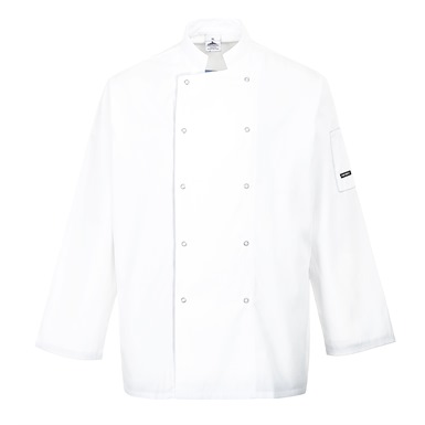 Portwest Suffolk White Chefs Jacket