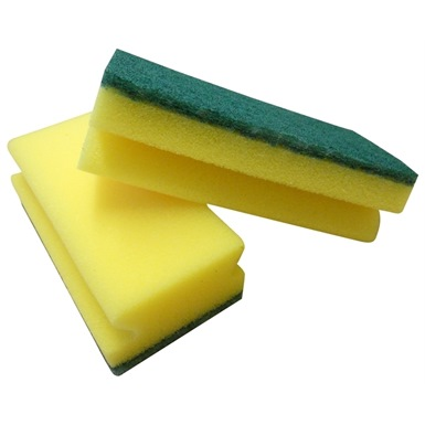 Pro hand grip sponge scourers 10 pack ramon hygiene for Sponge co uk