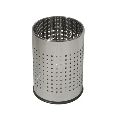 Probbax Round Waste Basket 10L, Mirror Stainless Steel