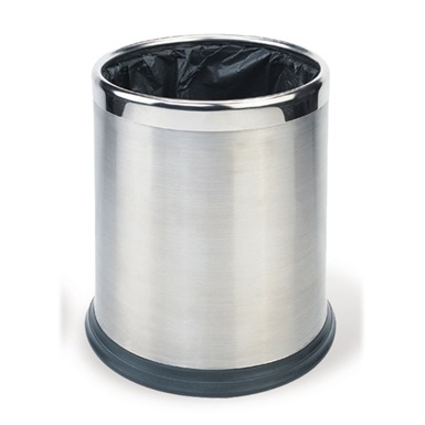 Probbax Round Waste Basket 10L, Stainless Steel