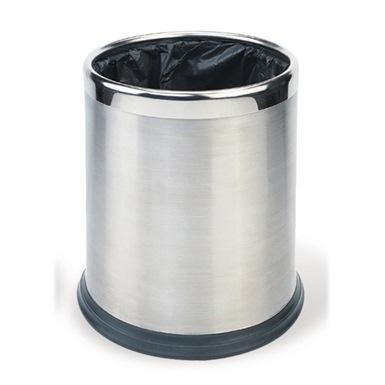 Probbax Round Waste Basket 10L, Stainless Steel