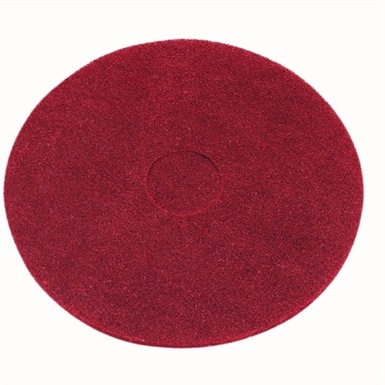 """Red Floor Pad Light Clean Buffing 15"""""""