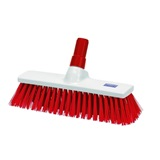 Red Food Safe Yard Broom Stiff Bristle - NHB13