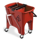 Red Foot Operated Mop Bucket, 15 litre - 6415