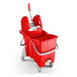 Red Kentucky Pro Mop Wringer Bucket - 6480