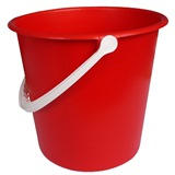 Red Plastic Bucket, 9 Litre - 755