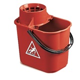 Red Plastic Mop Bucket, 12 Litre - 5040