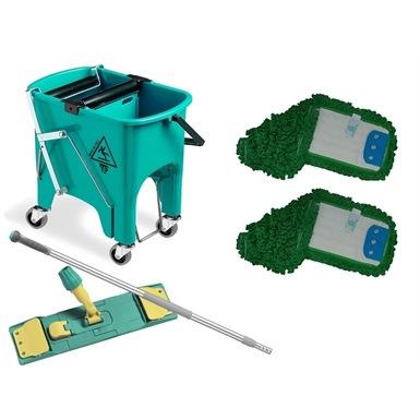 Squizzy Floor Mop Wringer Bucket Deluxe Kit