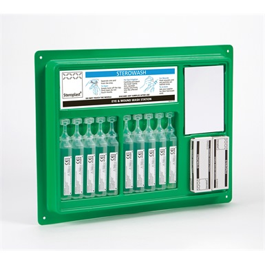 Steroplast Sterowash Eye Wash Kit Station with 20ml Pods