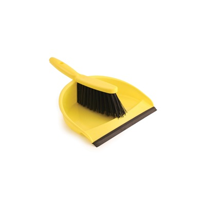 Stiff Bristle Dustpan and Brush Set