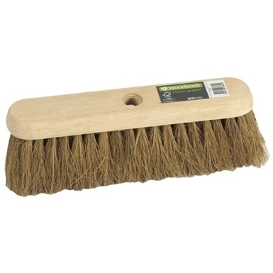 Woodlands 300mm Coco Sweeping Broom Head (Threaded)