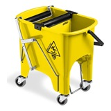 Yellow Foot Operated Mop Bucket, 15 litre - 6415