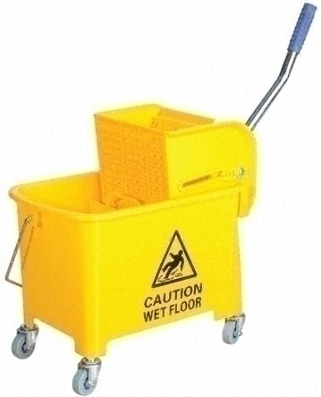 Kentucky Wringer Mop Bucket On Wheels 17 Litre Ramon