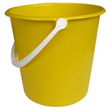 Yellow Plastic Bucket, 9 Litre - 755