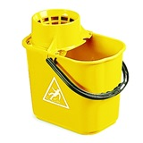 Yellow Plastic Mop Bucket, 12 Litre - 5040